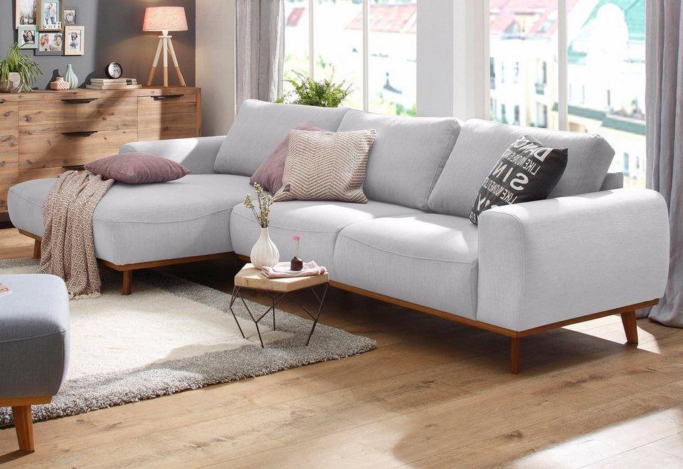 home affaire ecksofa gabrielle mit holzrahmen im eleganten skandinavischen design colours. Black Bedroom Furniture Sets. Home Design Ideas