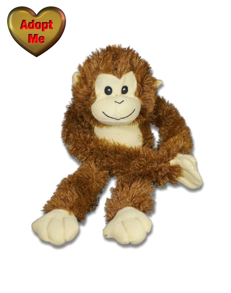 Goffa Brown Shaggy Hanging Monkey Ape Jungle Safari Stuffed Plush