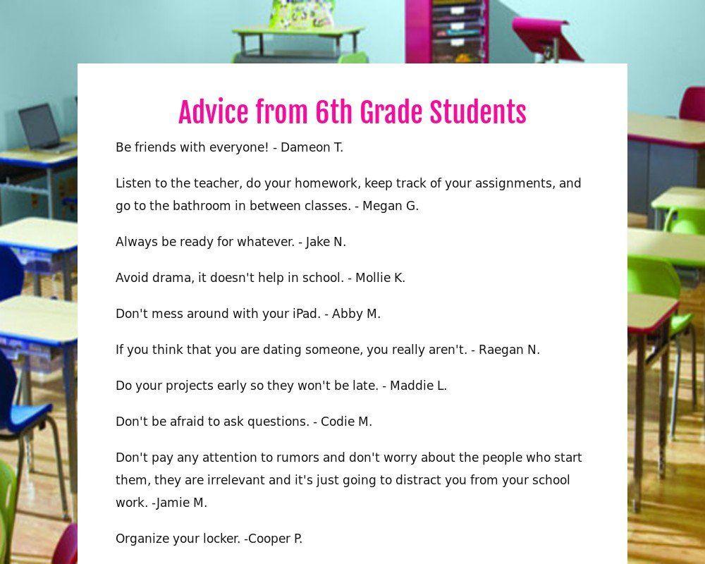 6th grade dating advice