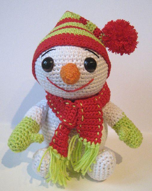 Muñeco de nieve | GANCHILLO / CROCHET | Pinterest | Nieve, Navidad y ...