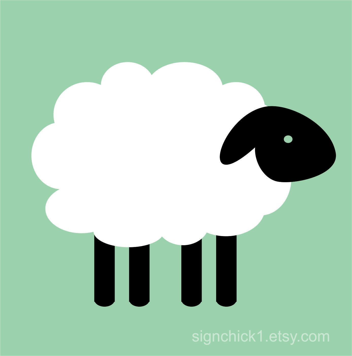 Sheep wall decals - set of 4. $25.00, via Etsy.