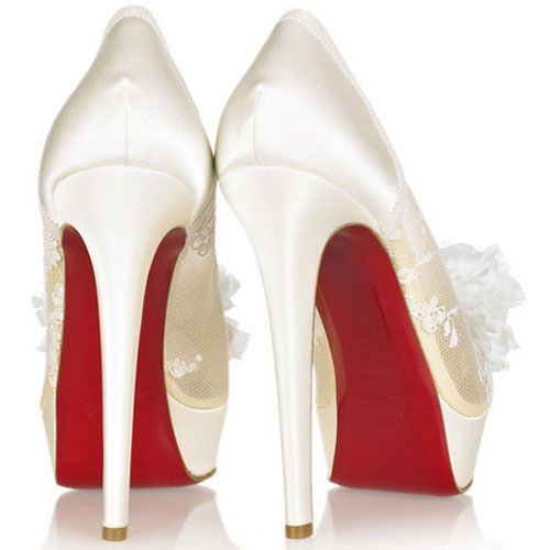 best loved 5e743 2bb94 Christian Louboutin Tsar 140mm Satin Pumps Ivory | Shoes to ...