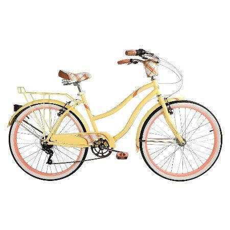 Women/'s Cruiser Bike 1 Speed Storage Rack Perfect Fit Frame Yellow Huffy 26 in
