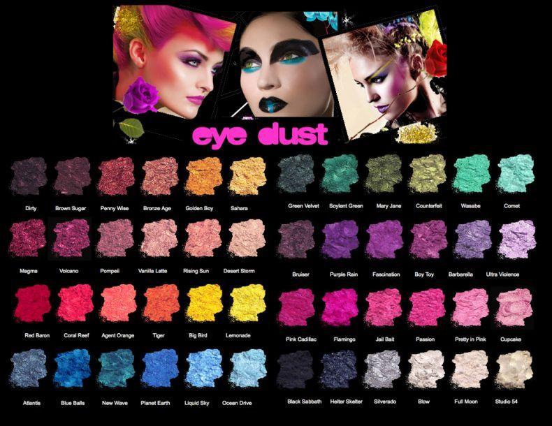 Medusa's Makeup eye dust collection. My favorite! Hair Makeup, Eye Makeup, Beauty