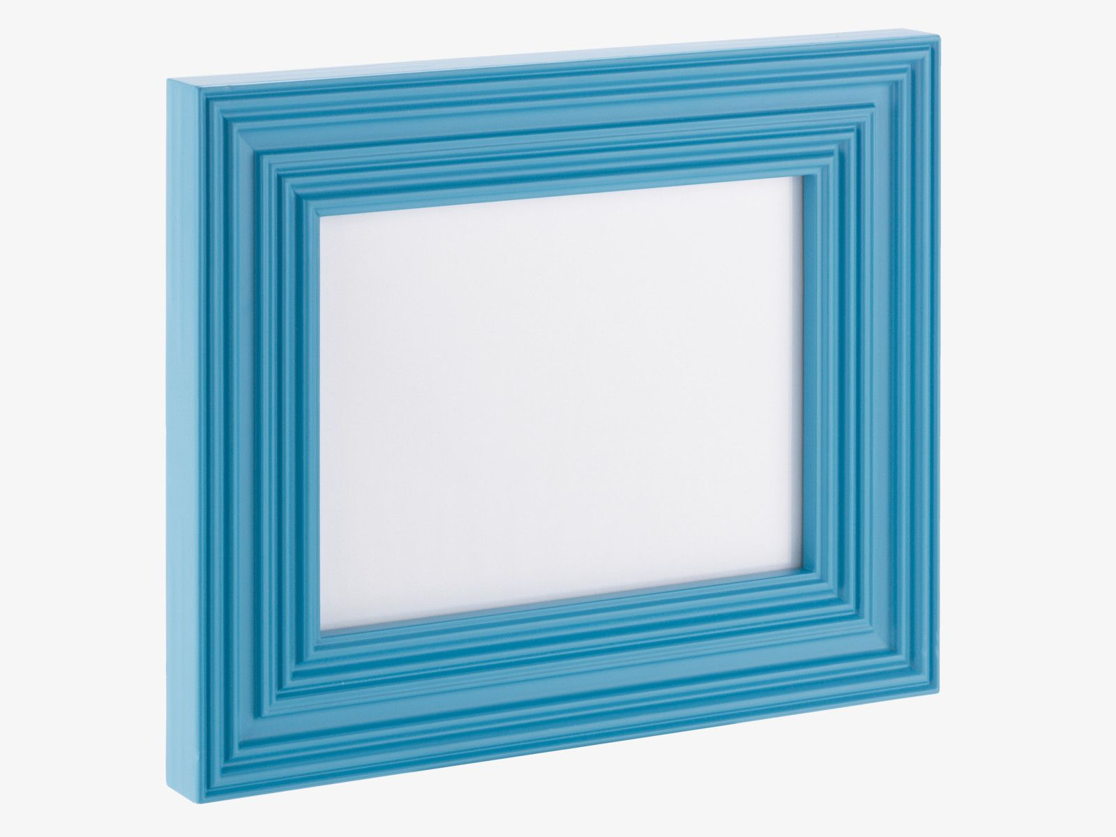 HARVEY BLUES Wood 15 x 20cm blue photo frame - Photo Frames- HabitatUK