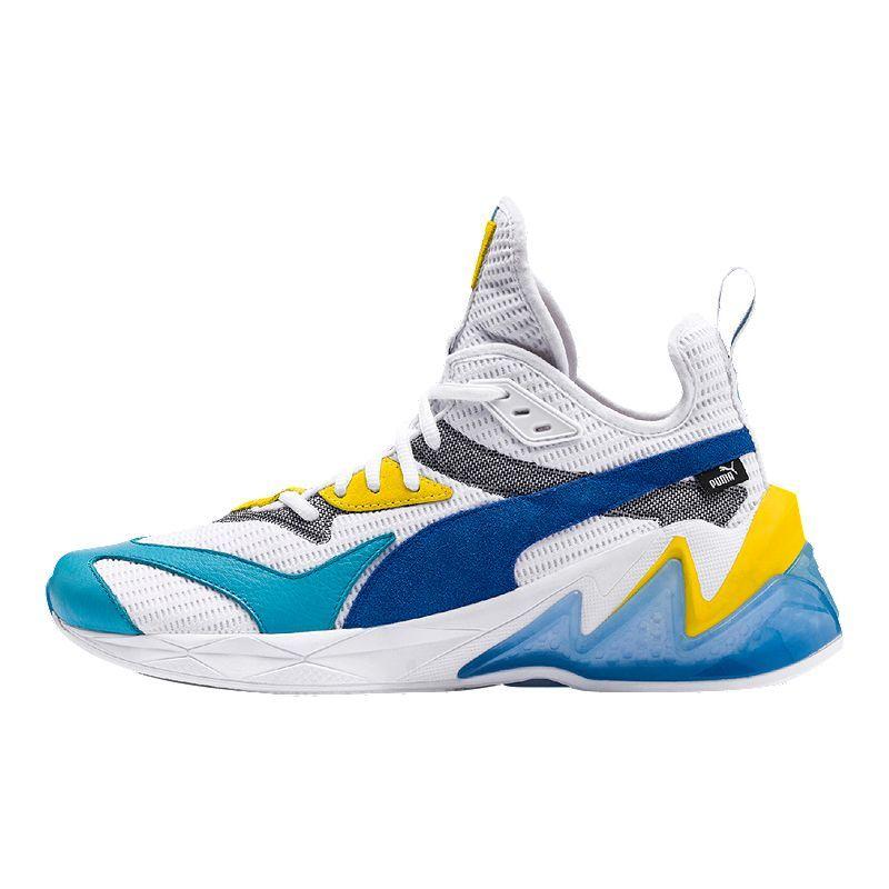 PUMA Men's Liquid Cell Origin Shoes WhiteBlueYellow