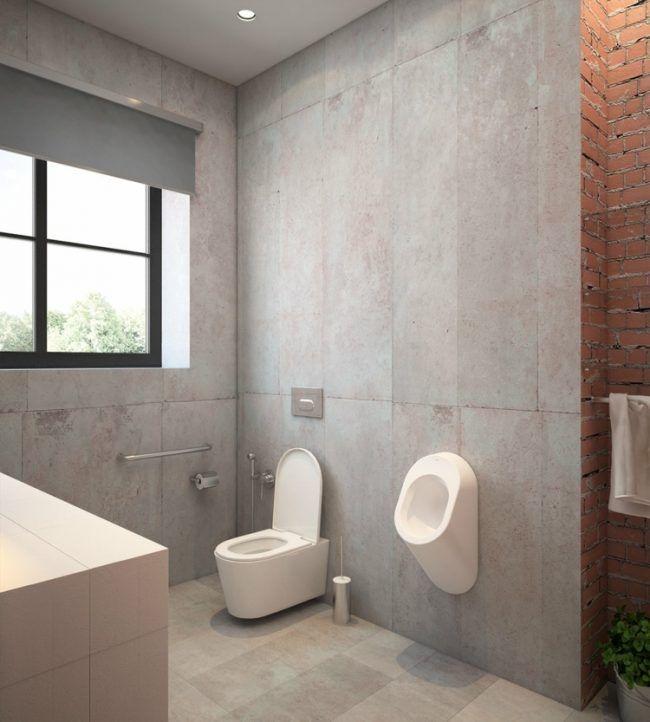 Rost Optik Und Beton Fur Eine Urbane Einrichtung Im Industrial Style Industriedesign Hauser Design Fur Zuhause Badezimmer Design
