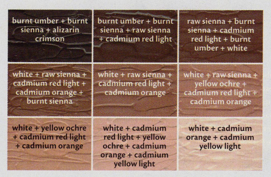 Flesh Tone Cheat Sheet Leinwandbilder Selber Machen Hautfarbe