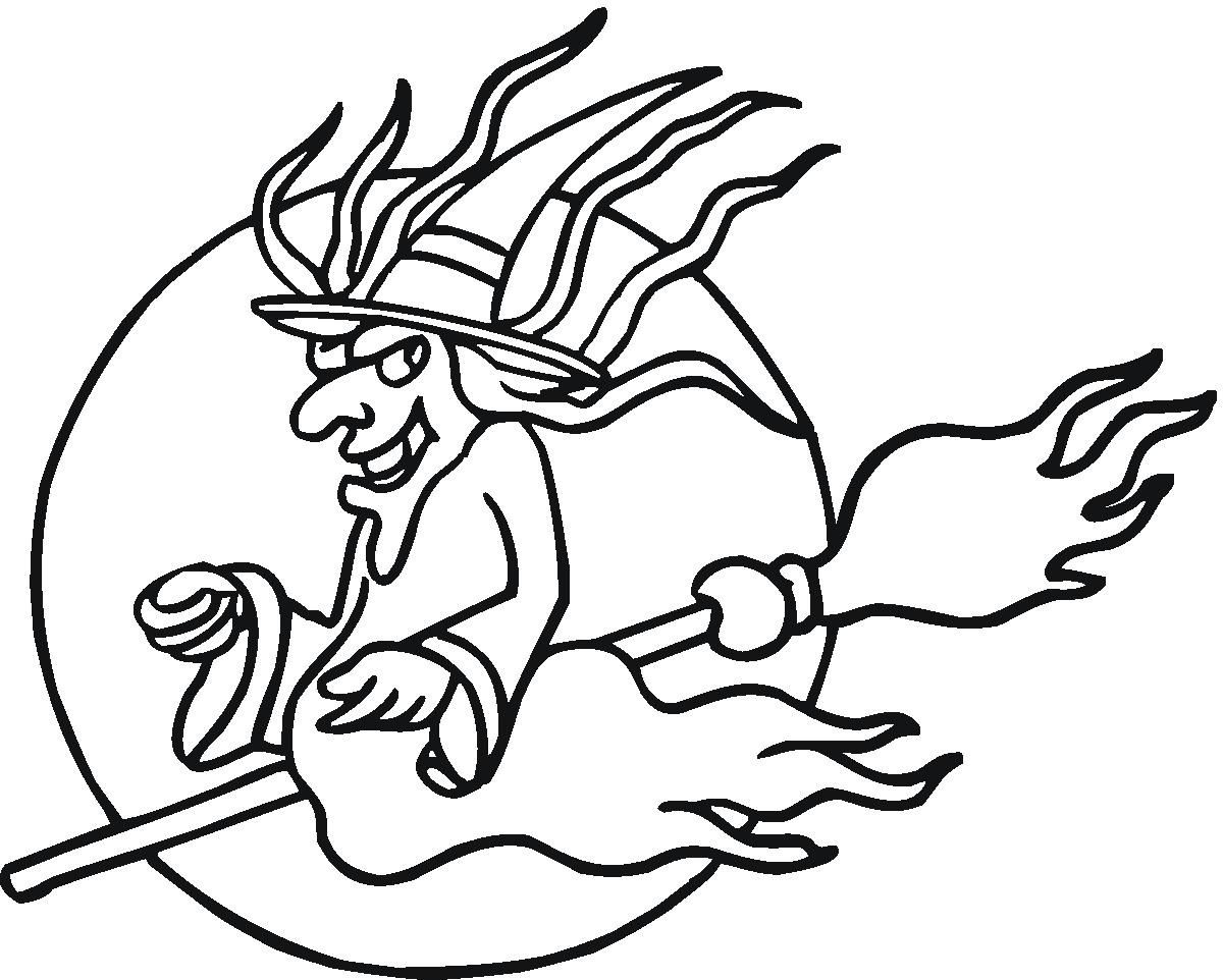 print holidays coloring pages evil women flying on broom coloring