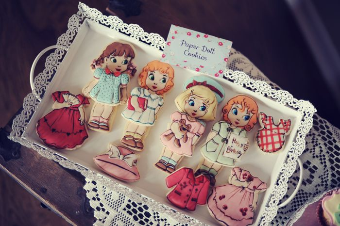 Paper Doll Cookies.