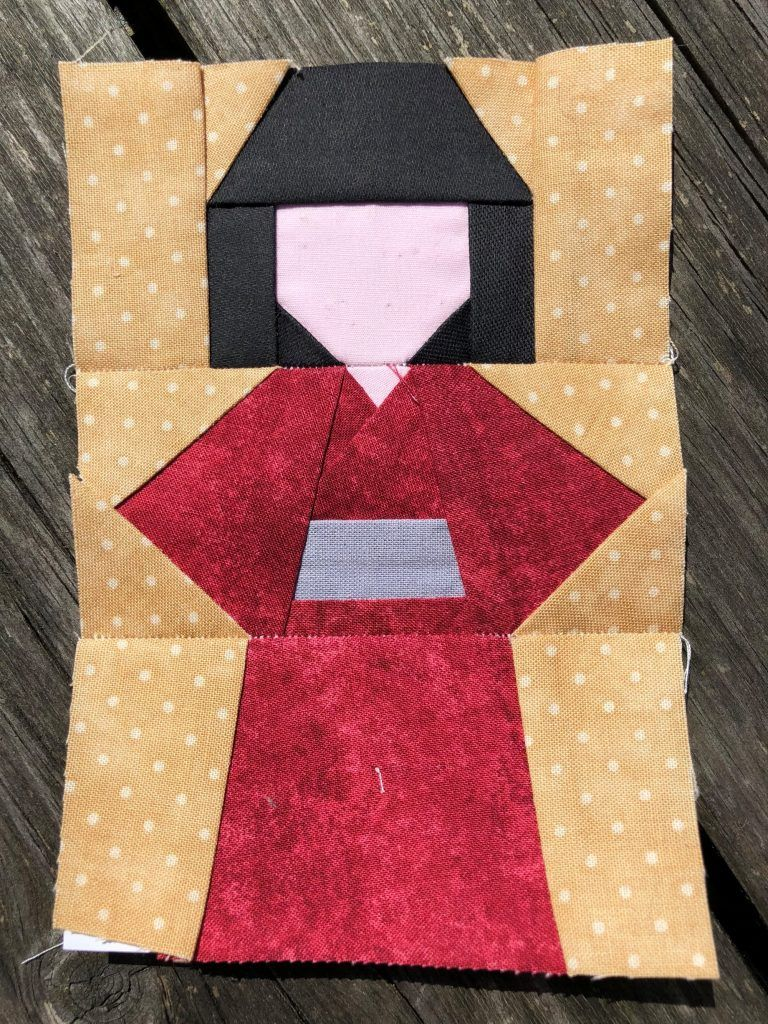 Kokeshi Doll Quilt Block Pattern Japanese Quilt Patterns