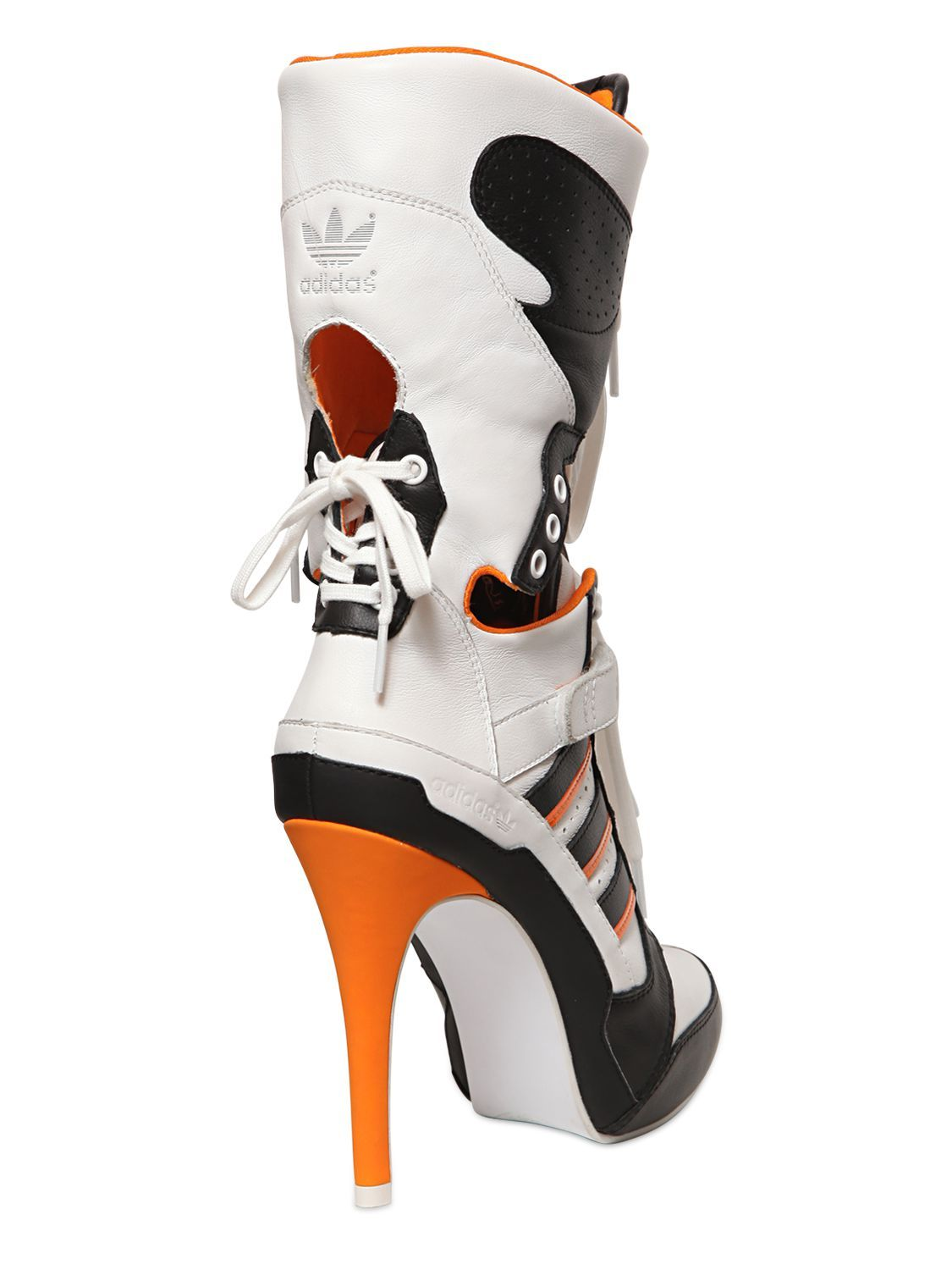 Adidas By Jeremy Scott 130mm JS High Heel Leather Boots - Google Search