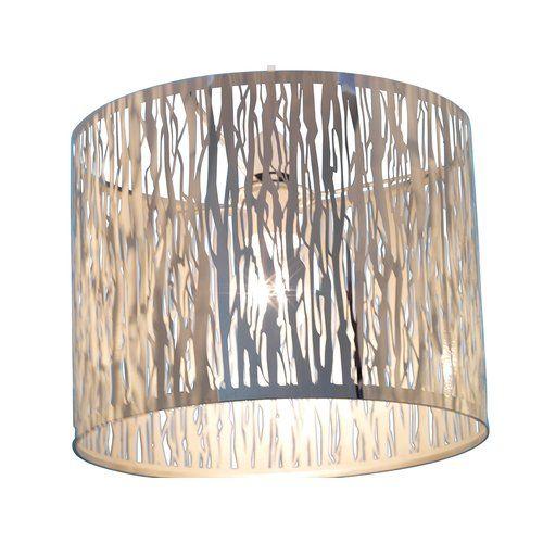 Barryte 30cm Metal Drum Pendant Shade Mercer41 Colour Chrome Glass Pendant Shades