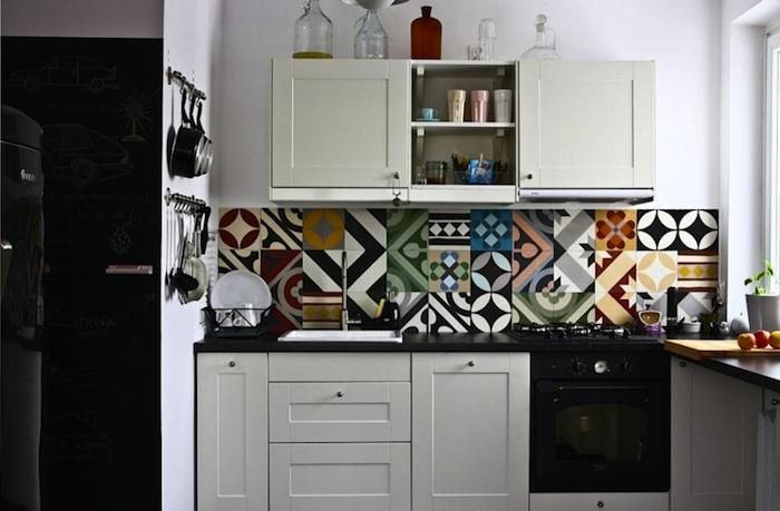 A backsplash made from handmade Purpura tiles | architecture ...