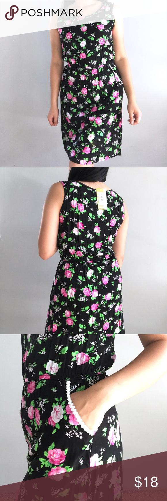 Floral Midi Dress Floral Midi Dress Clothes Design Floral Dress Black [ 1740 x 580 Pixel ]