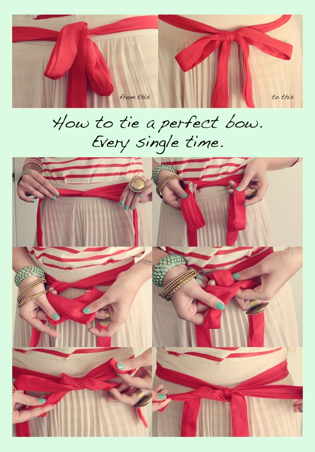 How To Tie A Perfect Bow Bows Diy Clothes Diy Sewing