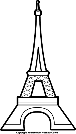 Free Eiffel Tower clipart, ready for PERSONAL and
