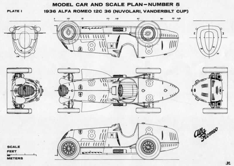 Alfa Romeo tipo 8c & 12c (1936) | SMCars.Net - Car Blueprints Forum ...