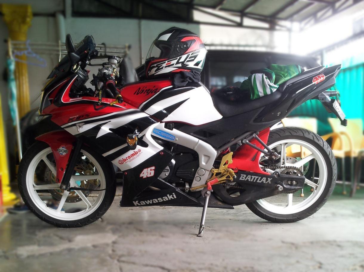 New Ninja RR 2013 warna Merah Full Modif Istimewa Motor