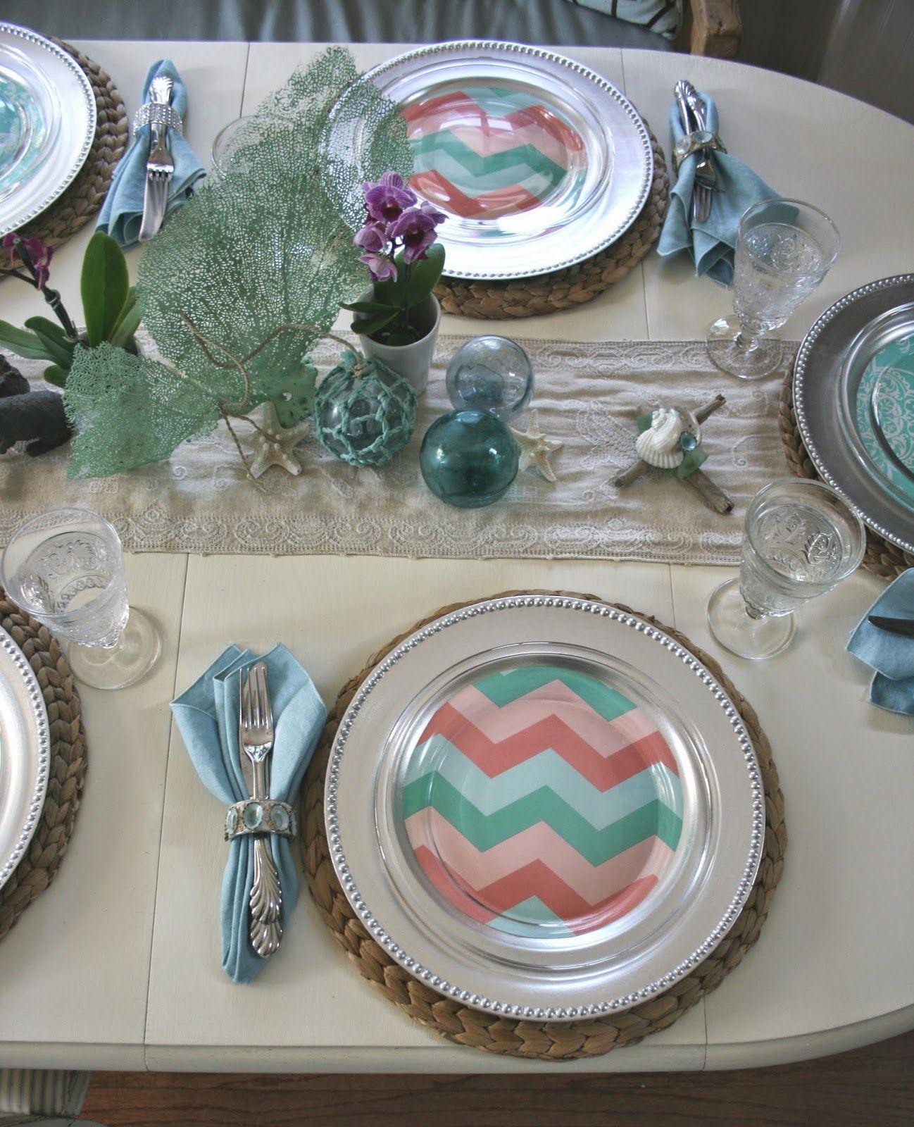A coastal Easter table.   Seaside decor   Pinterest   Easter table ...