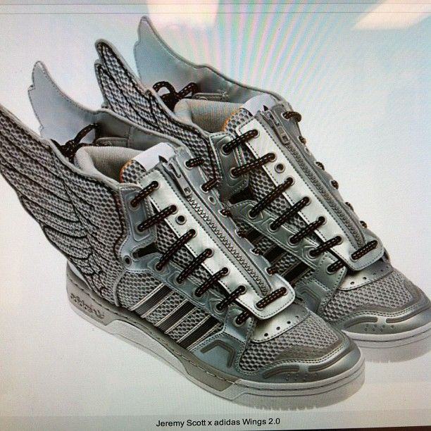 these shoes are fly!   Adidas   Adidas jeremy scott wings