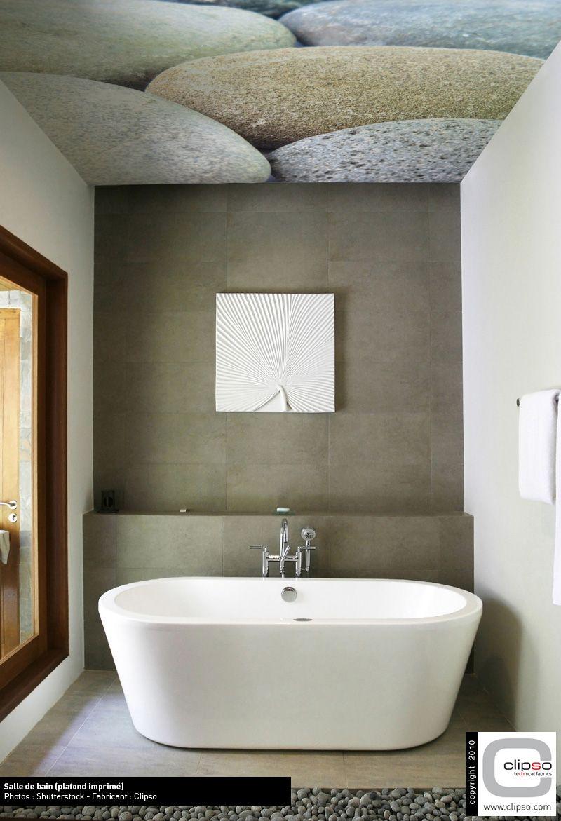 Clipso Print An Der Decke Im Modernen Badezimmer Clipso Wand Und
