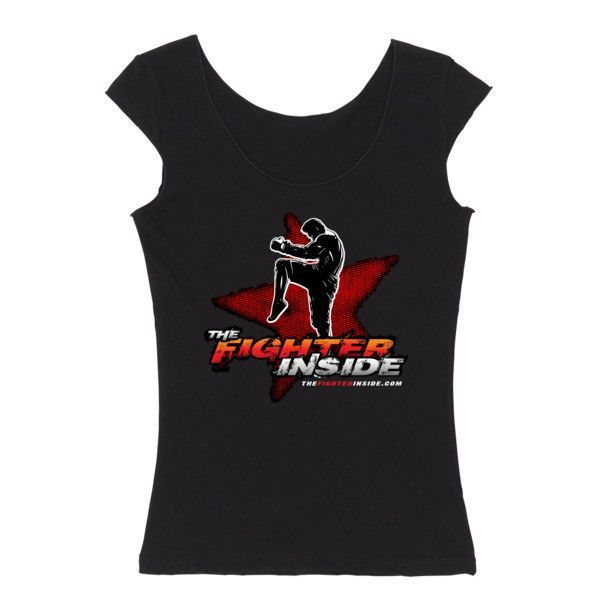 The Fighter Inside - Reversible women's cap sleeve MMA t-shirt