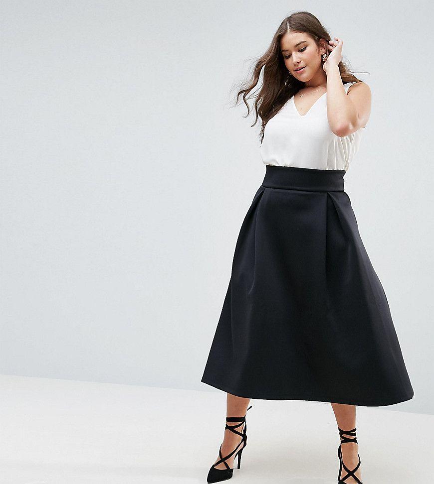 d15d5acfd CURVE high waisted scuba Midaxi prom skirt | Wardrobe for Me | Skirt ...