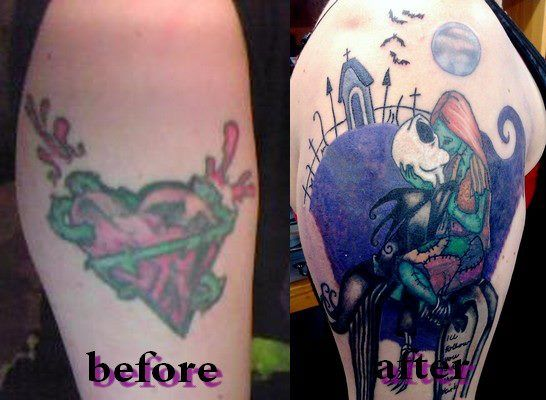 And after tattoo before awful graffiti heart after for Is tattoo nightmares still on