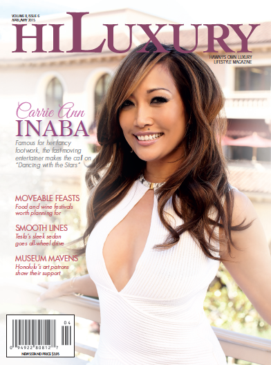 April/May 2015 cover featuring Carrie Ann Inaba. More at hiluxury.com