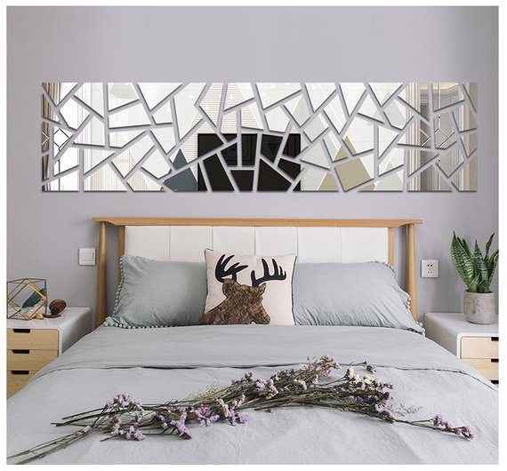 Pin By Minakshi On Beds In 2020 Home Decor Mirror Wall Stickers