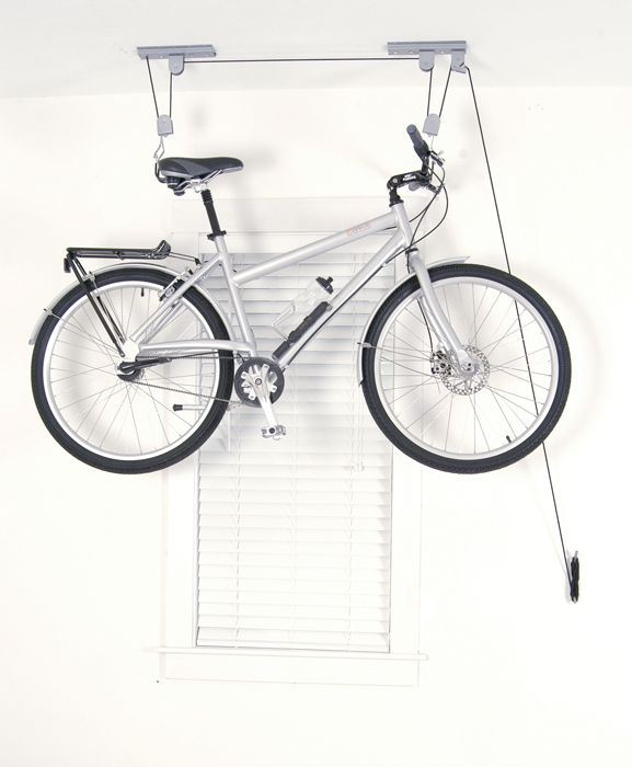 Indoor Bike Storage Ideas Part - 34: El Greco Bike Lift Ceiling Hoist - Great Storage Device For Apartments