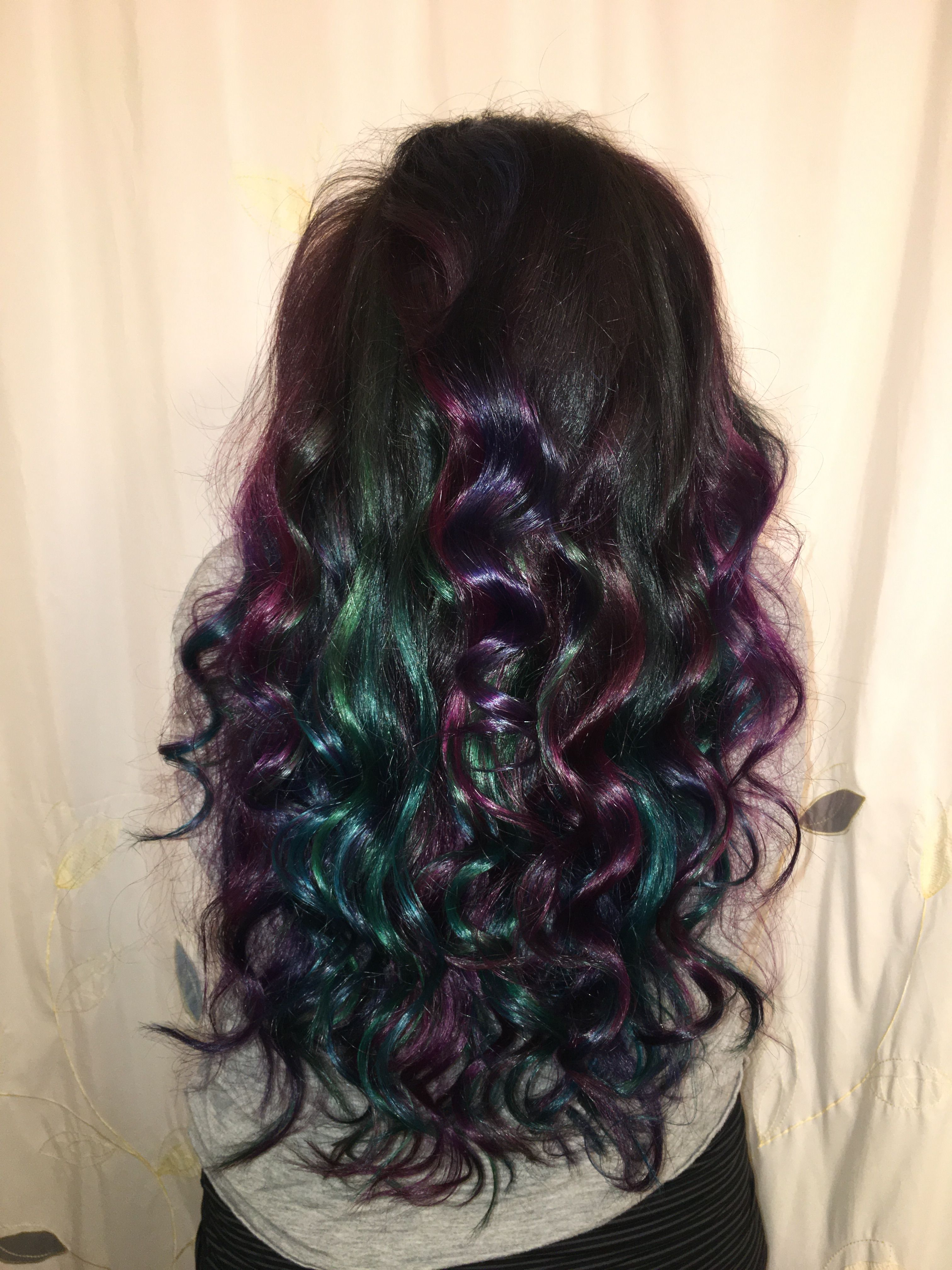 Oil Slick Hair Peacock Hair Arctic Fox Hair Color Long