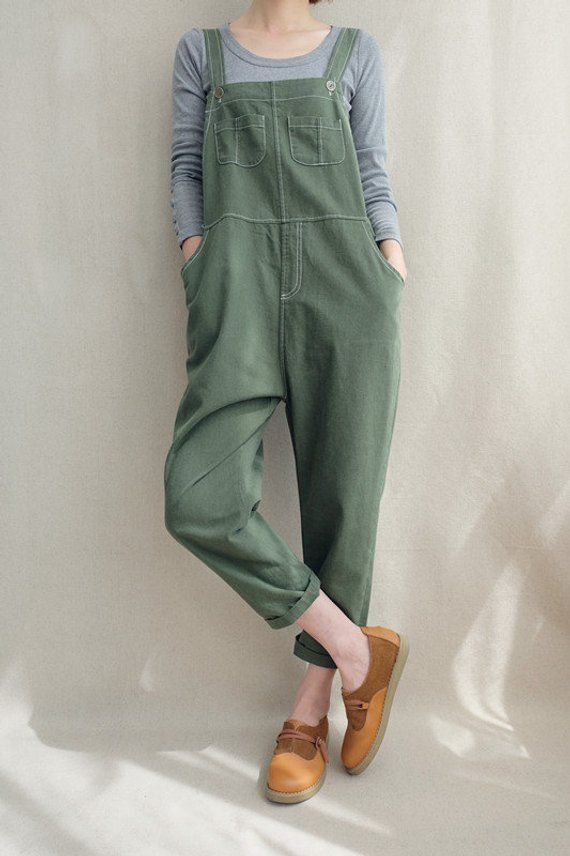 Women Leisure Cotton Jumpsuits Linen Overalls, Spr