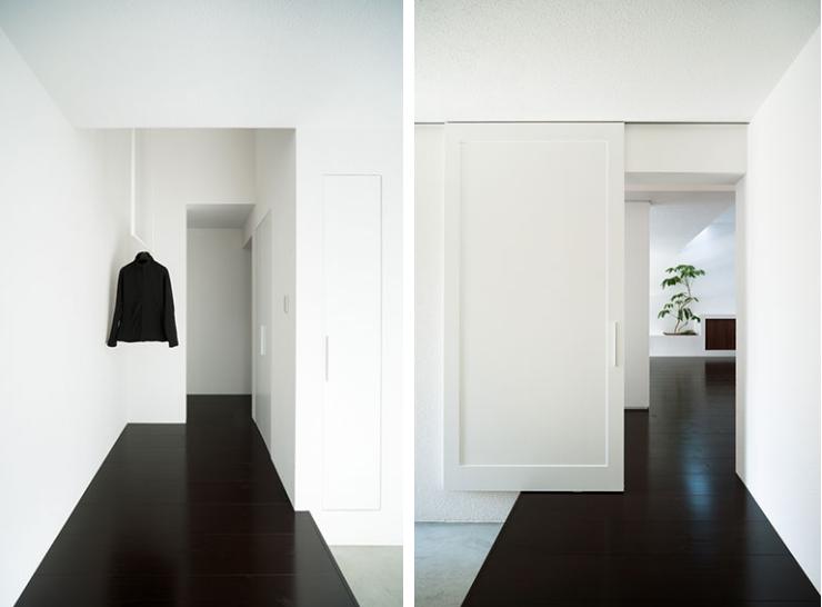 couloir-noir-idee-deco-contemporain | Black is black | Pinterest ...