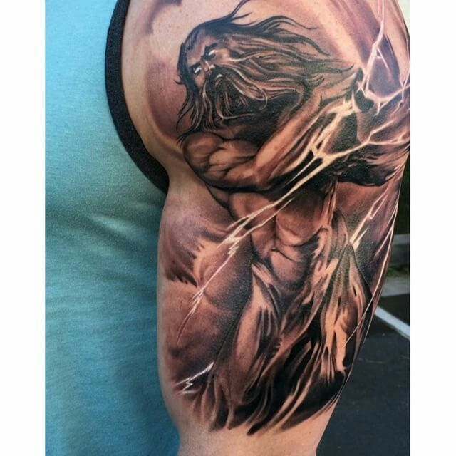 Image Result For Zeus Zeus Tattoo Lightning Tattoo Greek God Tattoo