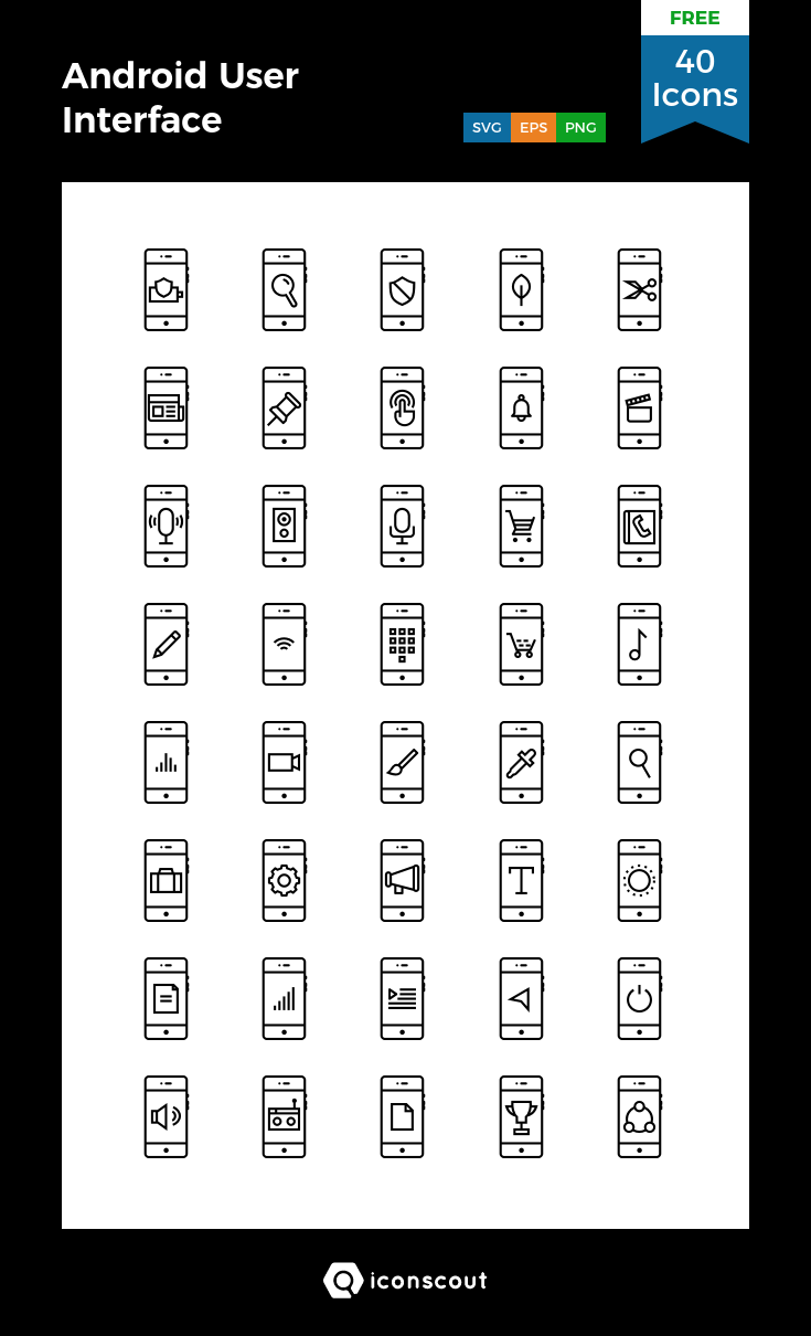 Download Download Android User Interface Icon pack - Available in ...
