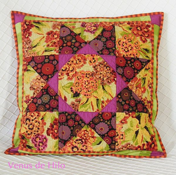 """Autumn Star Pillow Cover OOaK. $60.00, via Etsy. 20"""", concealed zipper back.   Click image for details."""
