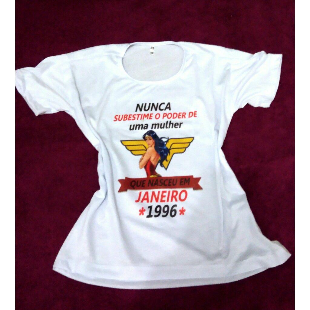 b96f8f2c63466 Camiseta personalizada mulher maravilha Lk Store Nunca subestime ...
