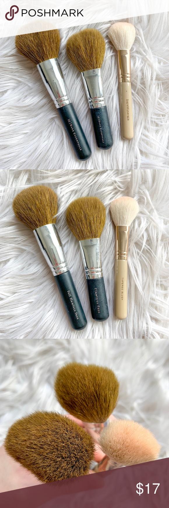 2 25 Bareminerals 3 Piece Face Makeup Brush Lot Face Makeup Brush Travel Size Makeup Brushes Makeup Brushes