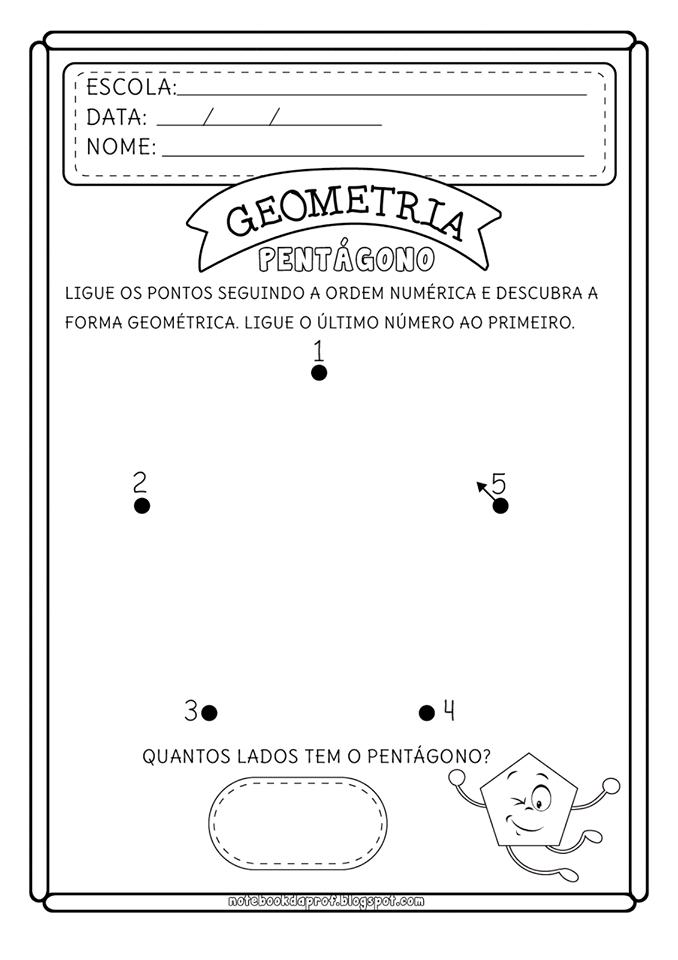 atividade de formas geométricas :
