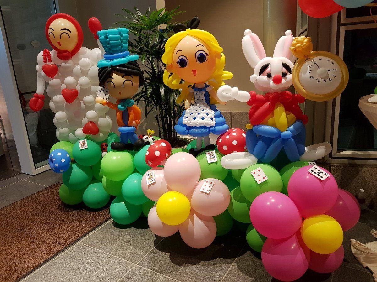 Alice in the Wonderland balloon decorations Singapore【2020】