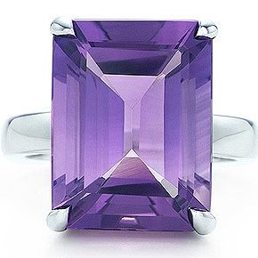 Tiffany & Co Tiffany Sparklers Amethyst cocktail ring Ring with an emerald-cut amethyst in sterling silver. Carat total weight 9.00.