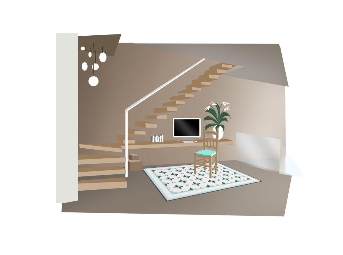 interior design digital illustrationezequiel tejero for a home