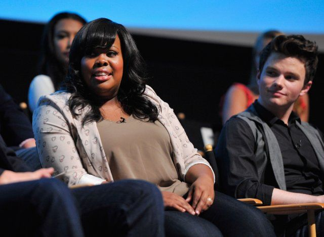 Chris Colfer and Amber Riley at event of Glee