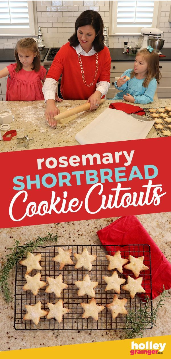 Rosemary Shortbread Cookie Cutouts Rosemary Shortbread Cookie Cutouts  Crispy on the outside and buttery on the inside sweet and salty Rosemary Shortbread Cookie Cutouts...