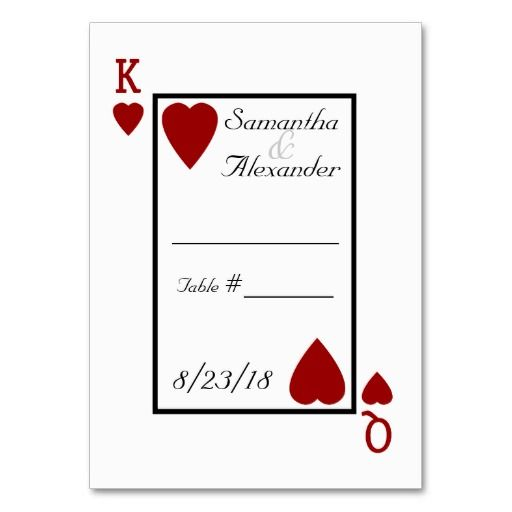 King Playing Card Template With Images Table Place Cards