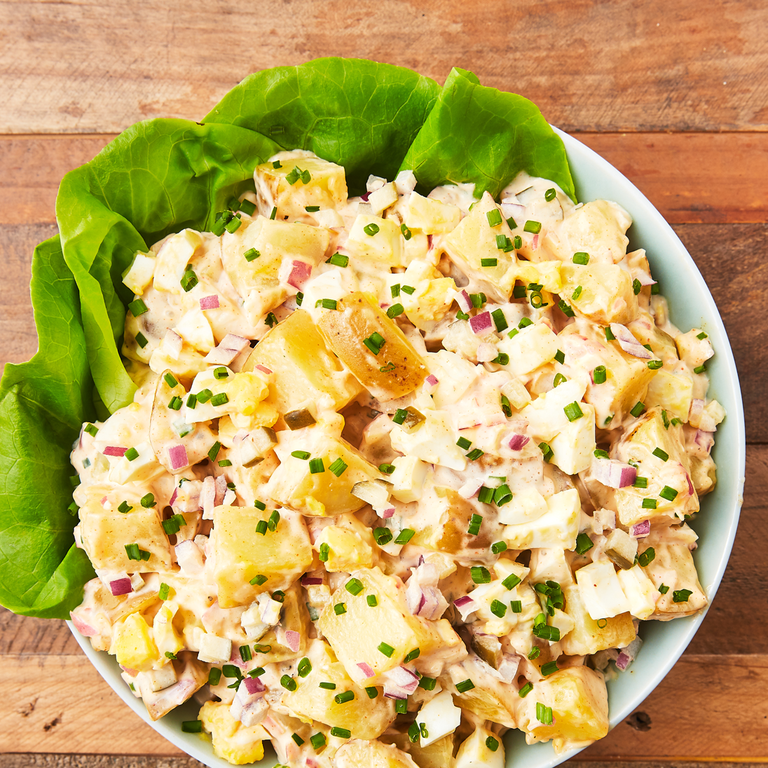 The Potato Salad We All Hope Someone Will Bring To The Barbecue Recipe Greek Lemon Potatoes Potatoe Salad Recipe Creamy Potato Salad