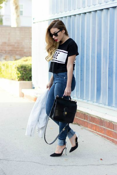 StilettoBeats in our Lovers + Friends Babe Magnet Tee