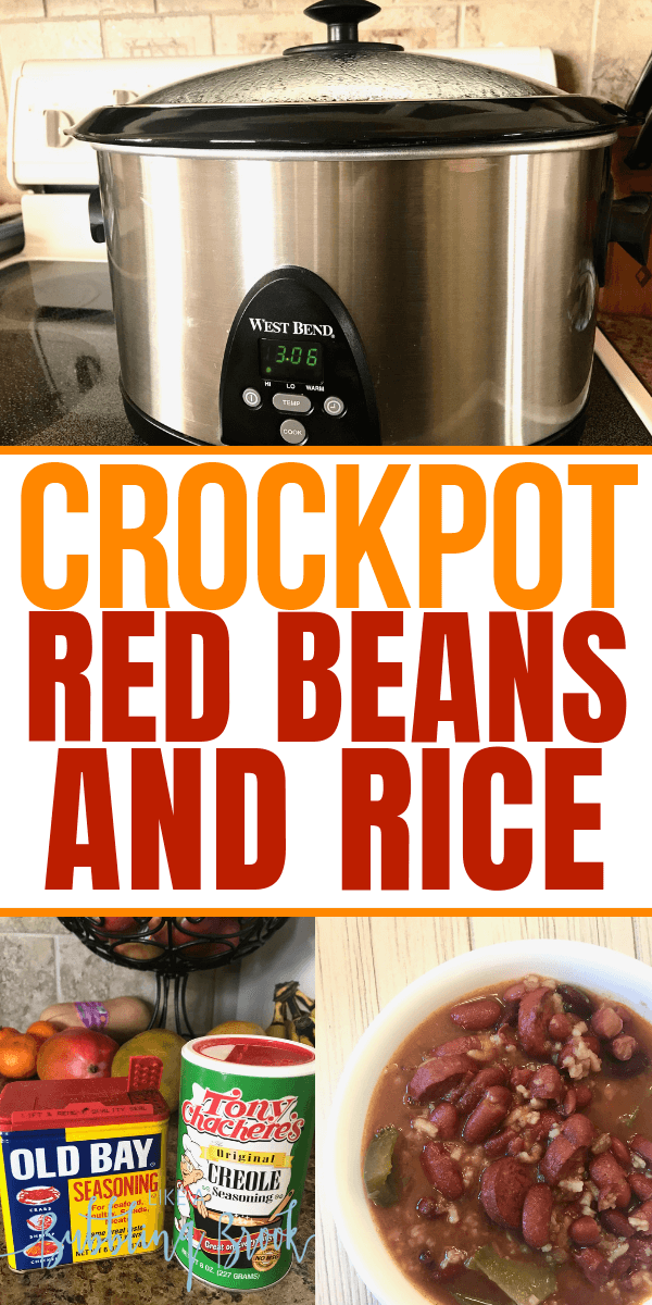 Crock Pot Red Beans and Rice Recipe That'll Warm You Up & Save You Money #crockpotmeals